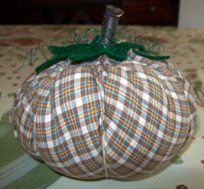 how to make a cloth pumpkin