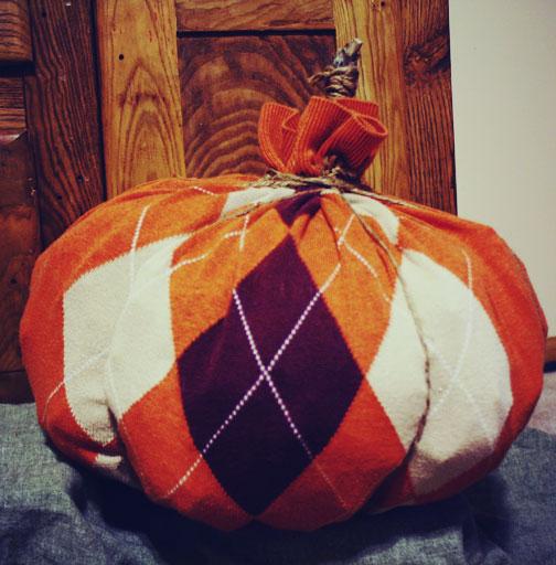 preppy sweater pumpkin