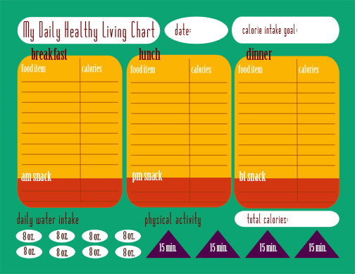 calorie counter chart: Calorie tracking chart free printable this michigan life