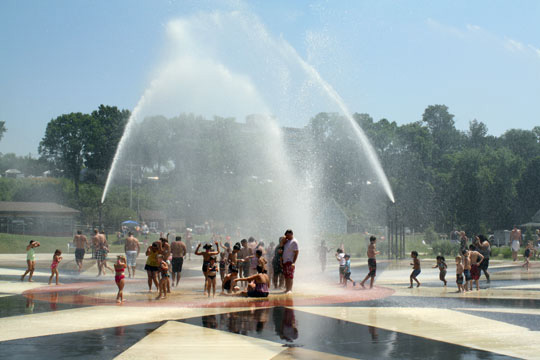 Splash pad Silver Beach St. Joe, MI