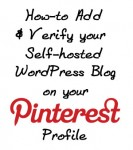 How to Add and Verify Your Website on Your Pinterest Profile for Self-hosted WordPress Blogs