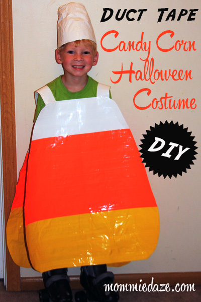 Halloween Costume Ideas Duct Tape Candy Corn  sc 1 st  This Michigan Life & Halloween Costume Ideas: DIY Duct Tape Candy Corn - This Michigan Life