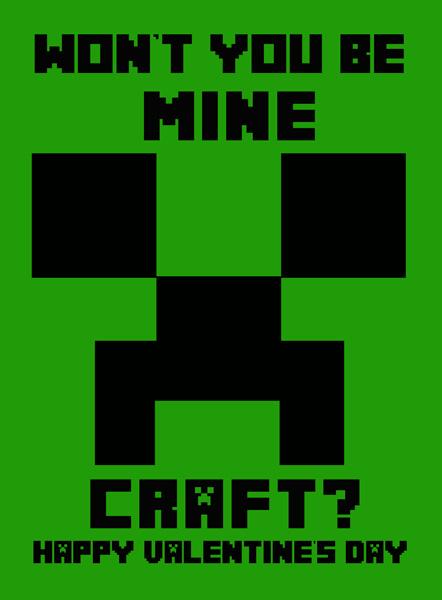 Minecraft Printable Valentineu0027s