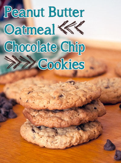 Peanut Butter Oatmeal Chocolate Chip Cookies - This Michigan Life