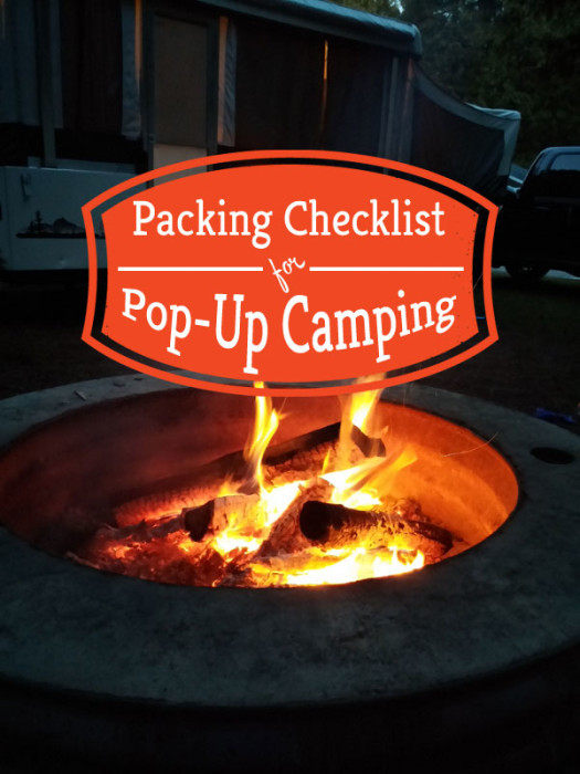 camping checklist packing