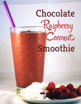 Chocolate Raspberry Coconut Smoothie Recipe