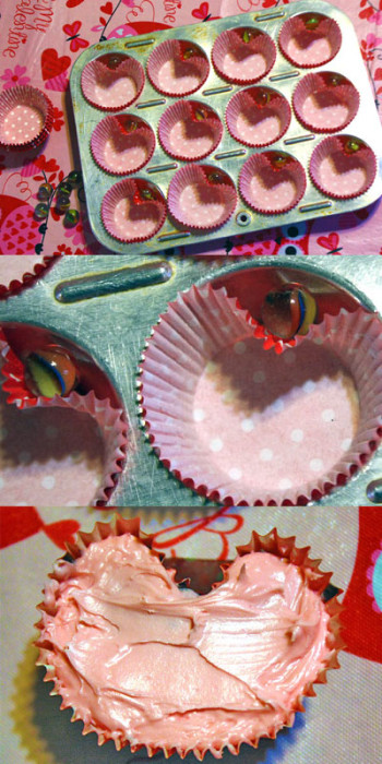heart shaped cupcakes