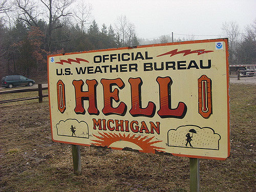 Hell-Michigan-Sign