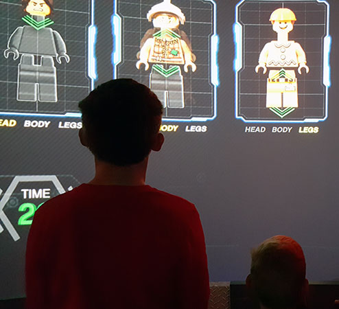 The Lego Factory tour is an interactive video presentation.