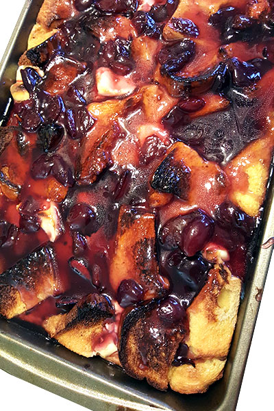 cherry baked french toast