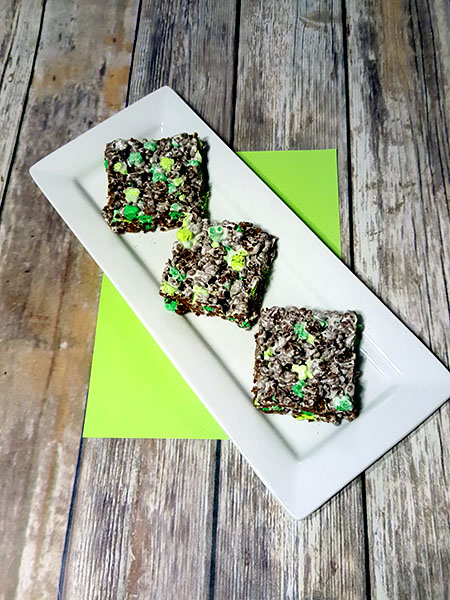 Lucky Charms Marshmallow Treats for St. Patrick's Day